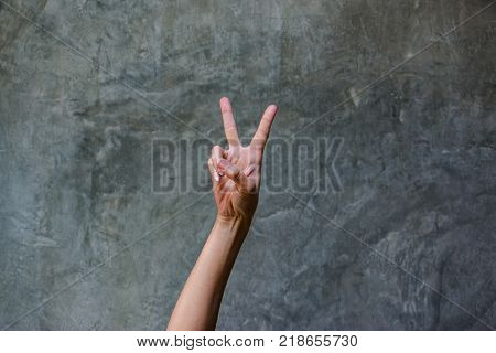 Victory Gesture. V Sign Is Mean For Victory This Gesture Made By Raising The Hand With The Middle An