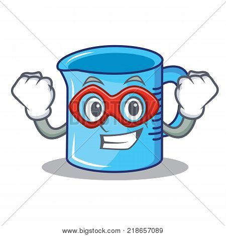 Super hero measuring cup character cartoon vector illustartion