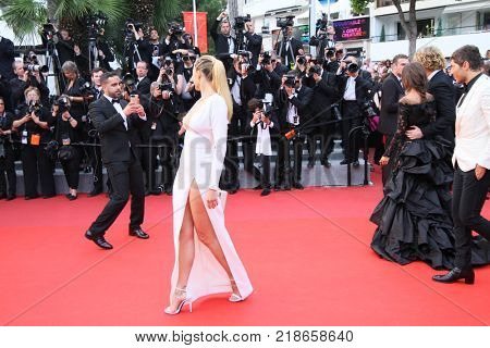 CANNES, FRANCE - MAY 18: Petra Nemcova attends the 'Nelyobov (Loveless)' screening during the 70th Cannes Film Festival at Palais des Festivals on May 18, 2017 in Cannes, France.