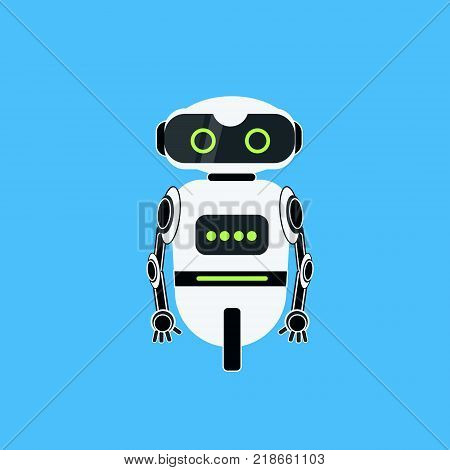 Robot Cartoon Robotic Character Realistic Icon Vector Illustration