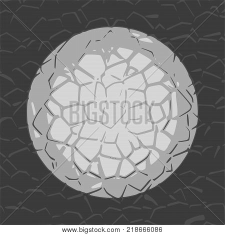 Grunge Cracks Effect Texture. Cracked Concrete Wall. Concentric pattern. Vector Background