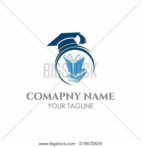 Graduation cap and book icon, Graduation cap and book, Graduation cap and book vector icon, Graduation cap and book isolated icon, Graduation cap and book icon illustration,eps 8,eps 10