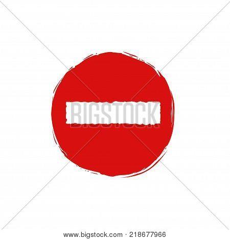 Do not enter sign. No entry symbol, Red Stop emblem