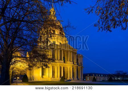 Hotel des Invalides in Paris France final resting place of Napoleon Bonaparte