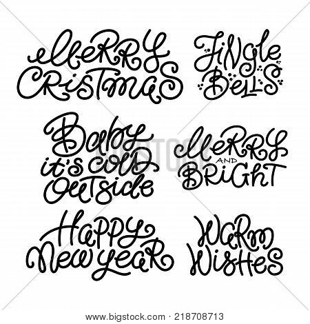 Set Typical Christmas Vector & Photo (Free Trial)   Bigstock