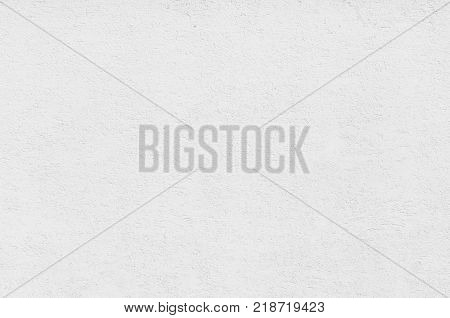 Seamless homogeneous white plastered wall surface background