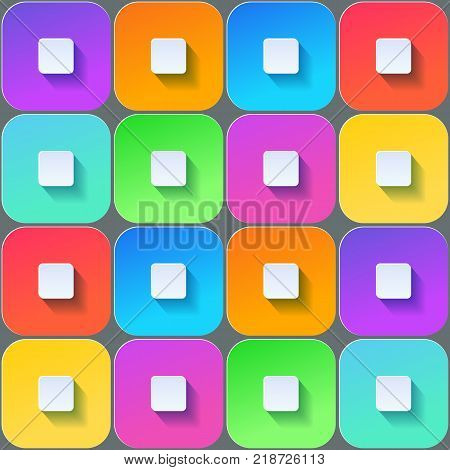 Colored squares. Useful for tiling, ceiling, business cards etc