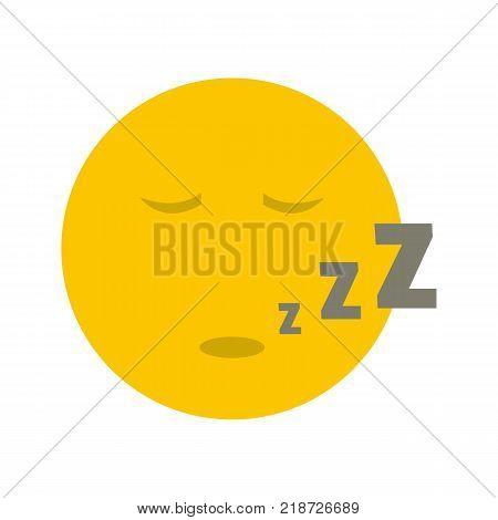 Sleep smile icon. Vector flat illustration of sleep smile icon isolated on white background