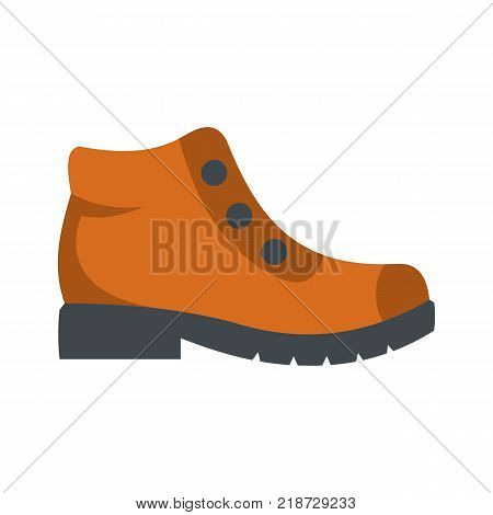 Hiking boots icon. Flat illustration of hiking boots vector icon isolated on white background