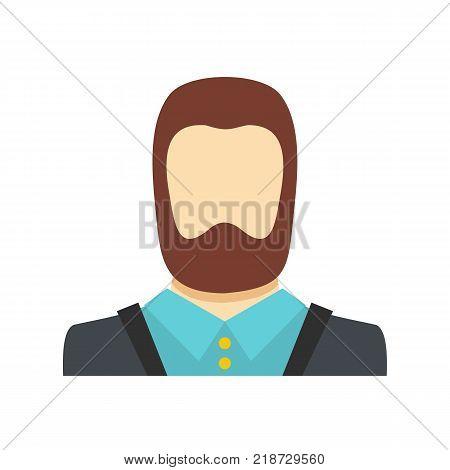 Man avatar icon. Flat illustration of man avatar vector icon isolated on white background