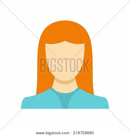 New woman avatar icon. Flat illustration of woman avatar vector icon isolated on white background