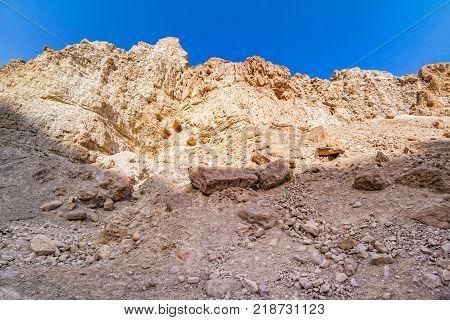 Desert Landscape Of Ein Gedi.