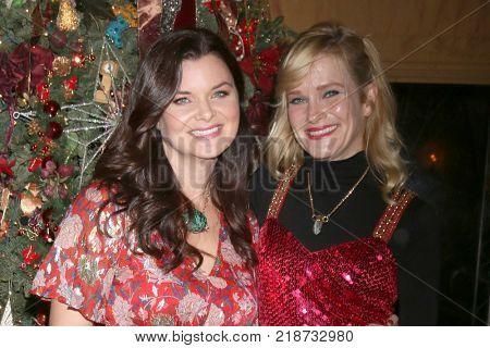 LOS ANGELES - DEC 16:  Heather Tom, Nicholle Tom at the Heather Tom, James Achor, Zane Achor Christmas Party at their private residence on December 16, 2017 in Glendale, CA