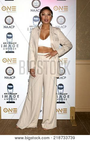 LOS ANGELES - DEC 16:  Jeannie Mai at the 49th NAACP Image Awards Nominees' Luncheon at Beverly Hilton Hotel on December 16, 2017 in Beverly Hills, CA