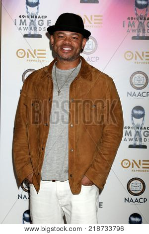 LOS ANGELES - DEC 16:  Anthony Hemingway at the 49th NAACP Image Awards Nominees' Luncheon at Beverly Hilton Hotel on December 16, 2017 in Beverly Hills, CA