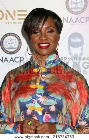 LOS ANGELES - DEC 16:  MC Lyte at the 49th NAACP Image Awards Nominees' Luncheon at Beverly Hilton Hotel on December 16, 2017 in Beverly Hills, CA