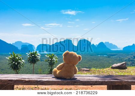On Samet Nangshe scenic viewpoint you can see the beautiful scenery of the islands in the Andaman Sea. during sunrise the sun shine through behind the island from far island until to the front island