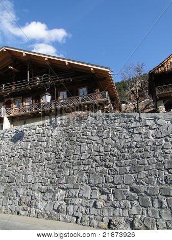 Alpine Chalet In Mountain Valley,