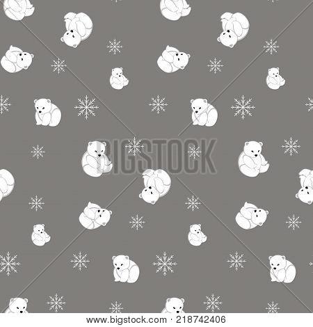 Cute teddy bear vector. Teddy bear. Polar bear.Seamless pattern.