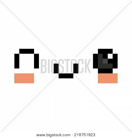 Vector Winky Face Isolated On White Background
