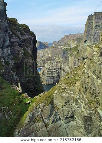 Mizen Head Rock Strata View, County Cork, Ireland