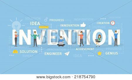 Invention concept illustration. Idea of innovation, development and ideas.