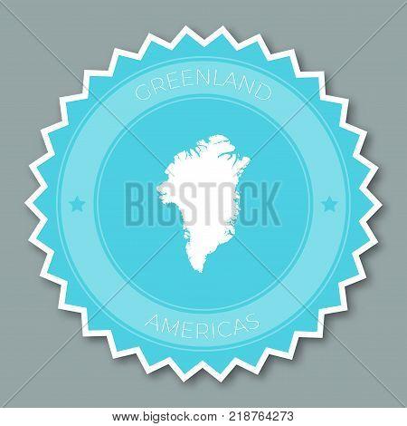 Uruguay Label Flat Sticker Design. Patriotic Country Map Round Lable. Country Sticker Vector Illustr
