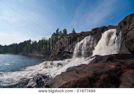 Waterfall On The Muskoka River