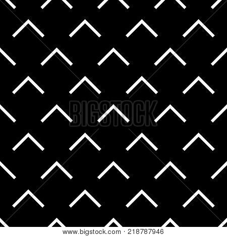 Tile black and white triangle vector pattern or website background