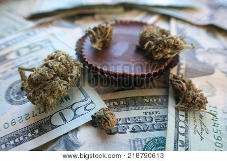 Medical Marijuana Edible Stock Photo High Quality