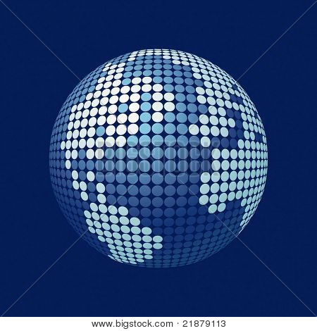 globo estilizada vector 3D