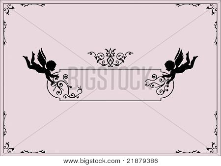 cherubs and scrolls design elements