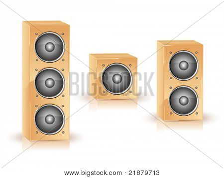 Icon. Great loud speakers. Isolated on white.