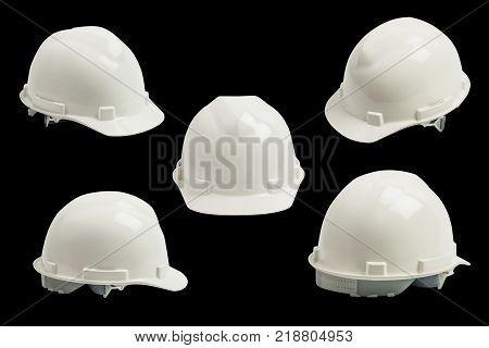 safety helmet isolated on black background , safety helmet