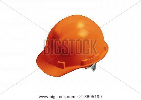 Safety Helmet Isolated On Black Background