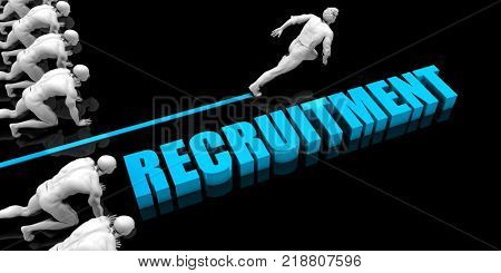 Superior Recruitment Concept with Competitive Advantage 3D Render