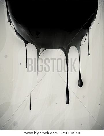 abstract oil slick flows with drops poster