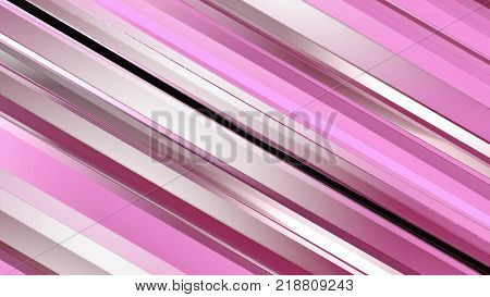 Pattern of red color strips prisms. Abstract background. 3D rendering illustration.