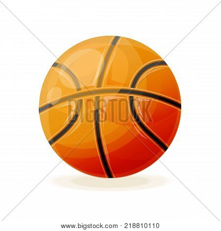 Beautiful realistic classic, basketball ball, for playing. Competitive games, physical education, hobbies, athletics, a healthy lifestyle, a collective game. Vector illustration isolated