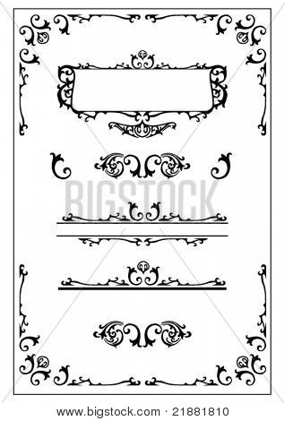 victorian decorative design elements