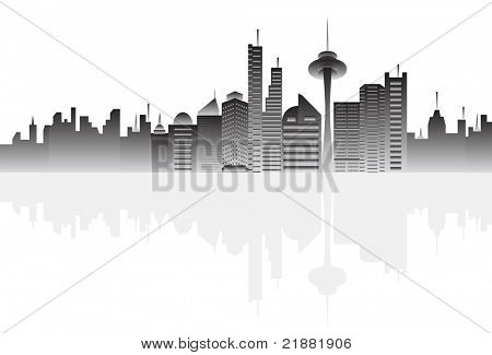 Big city buildings vector illustration