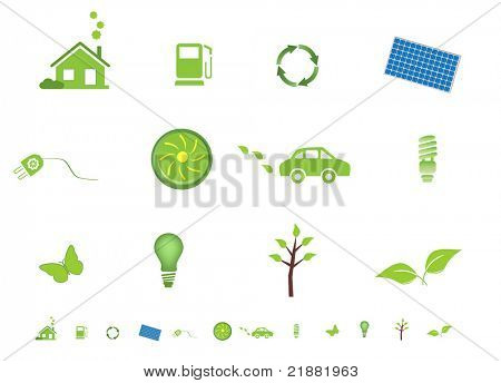 Environment friendly eco symbols