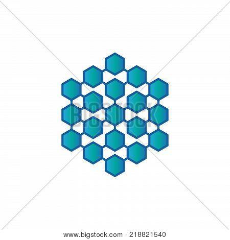Hexagon - Vector logo concept illustration. Hexagon geometric polygonal logo. Hexagon abstract logo. Vector logo template.