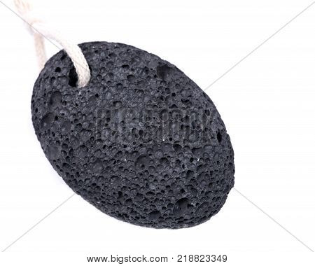 Real volcanic pumice stone isolated on white background