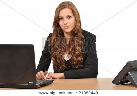 Young Woman At The Desk
