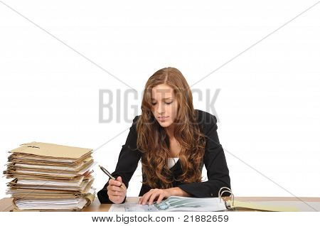 Businesswoman Edited Architectural Drawing