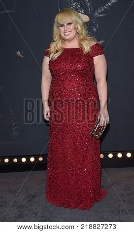 LOS ANGELES - DEC 12:  Rebel Wilson arrives for the '