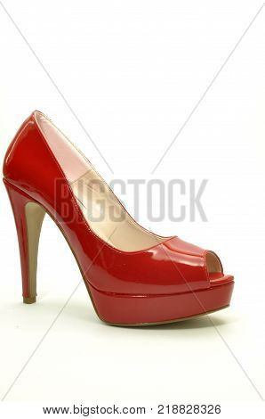 A pair of elegant red shoes for a modern woman 01