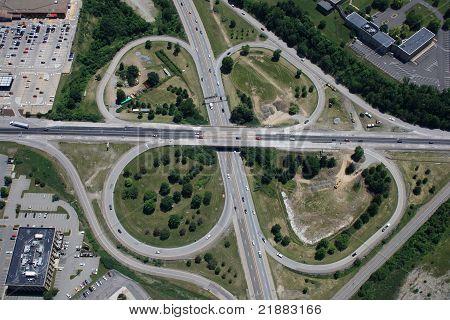 Highway Cloverleaf Aerial