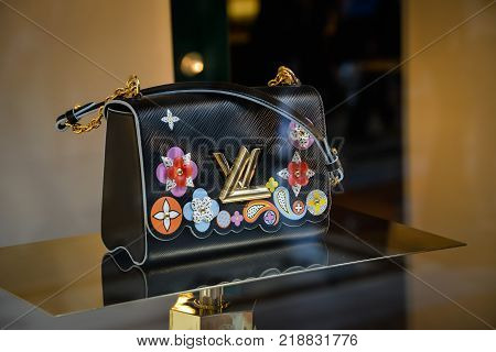 Milan, Italy - September 24, 2017:  Louis Vuitton Bag In A Louis Vuitton Store In Milan. Fashion Wee